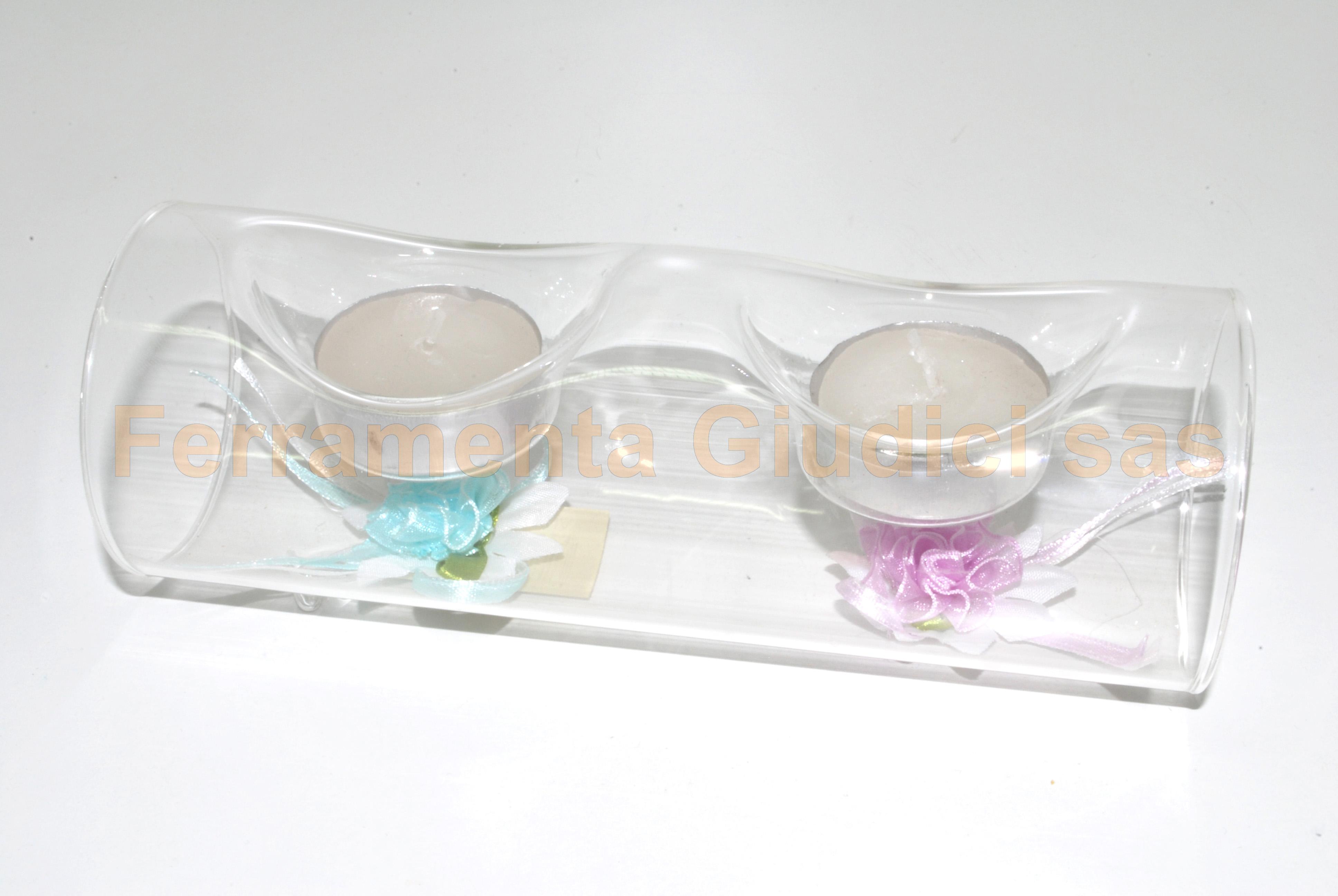 Portacandele vetro oggetti decorare decoupage ebay - Portacandele in vetro ...