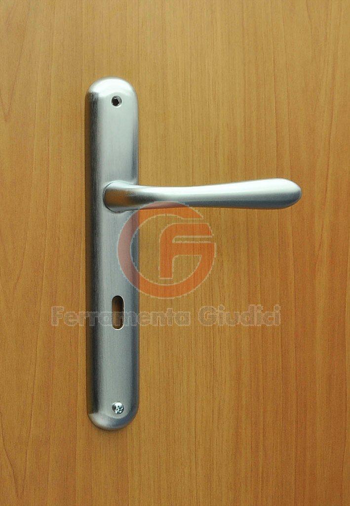 Maniglia clara placca ottone cromo satinato maniglie per porte porta ebay - Maniglie porte interne cromo satinato ...